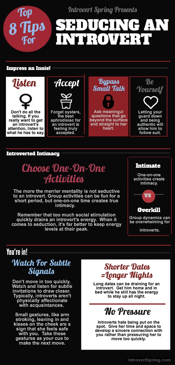 How to Seduce an Introvert Infographic