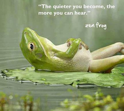 The quieter you become the more you can hear-Ram Dass