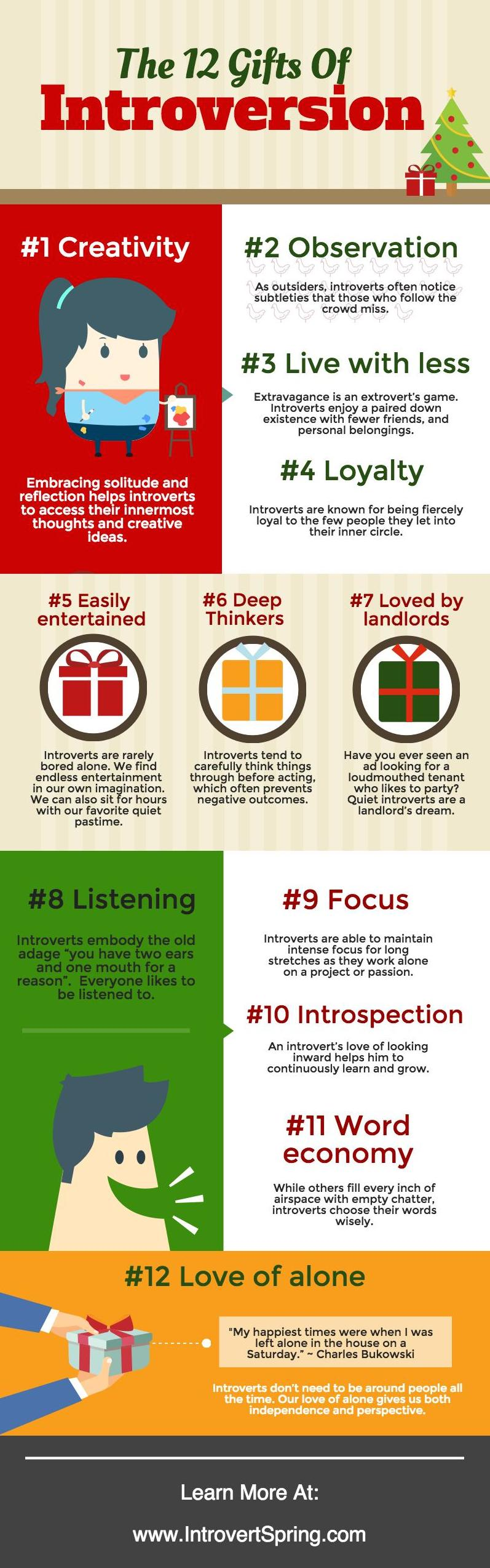 12 Gifts Of Introversion Infographic