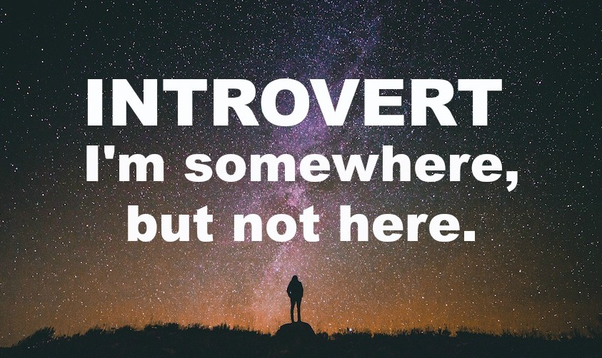 introvert i'm somewhere but not here