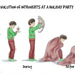 Evolution of Introverts at a Holiday Party